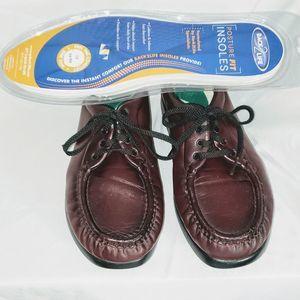 Women's SAS Take Time Moc Toe Walking Shoe Sz 9N